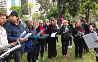 Choir performing in Melbourne with the Climate Choir
