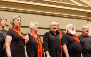 choir at trades hall